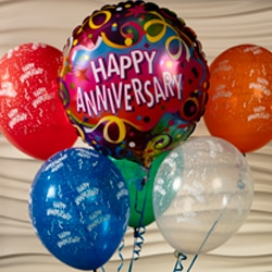 <b>Balloon Bouquet Mylar<br/>32</b><br/>One Mylar Special Occasion Balloon accompanied by Five Latex Balloons.