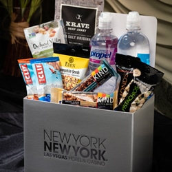 <b> Healthy Snack Box  <br/>60</b> <br/> One Bottle of Propel Electro Water, One Bottle of Propel Electro Flavored Water, One Krave Beef Jerky, Two Cliff Bars, Two Kind Bars, One Bag of Almonds, One Bag of Pistachios, One Bag of Pumpkin Seeds, One Bag of  Trail Mix