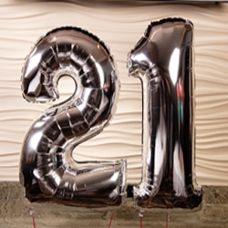 <b>Balloon Bouquet <br/>40</b> <br/>Two Number Balloons with Two Latex Balloons.