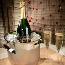 <b> Champagne for Two  <br/>45</b> <br/> One Bottle of Champagne Delivered on Ice.