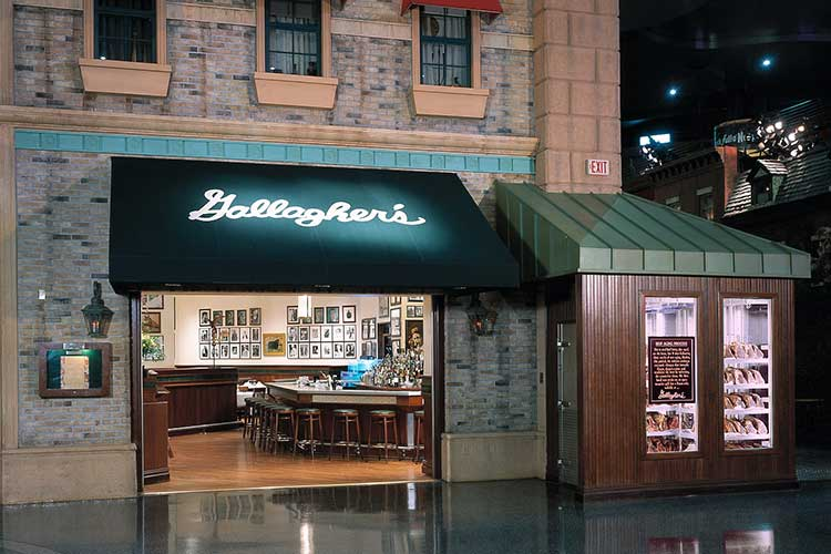 Unique wedding catering venue in Gallagher's Steakhouse in NY NY Casino on the Las Vegas Strip