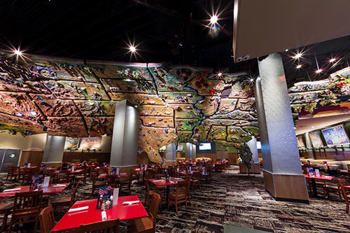 Largest U.S. Topo Map in the World, Corporate Event Catering Venue in America Restaurant in NY NY Casino on the Las Vegas Strip